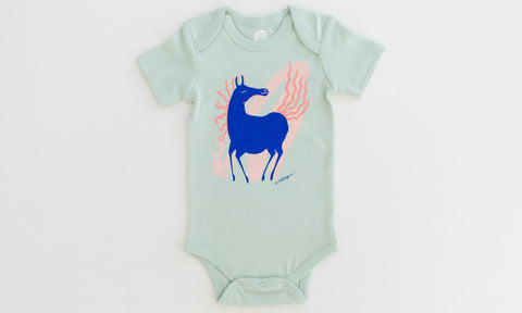 One for One Fairytale Horse - Mint Onesie