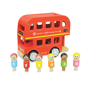 Wooden Double Decker Bus + Sorter