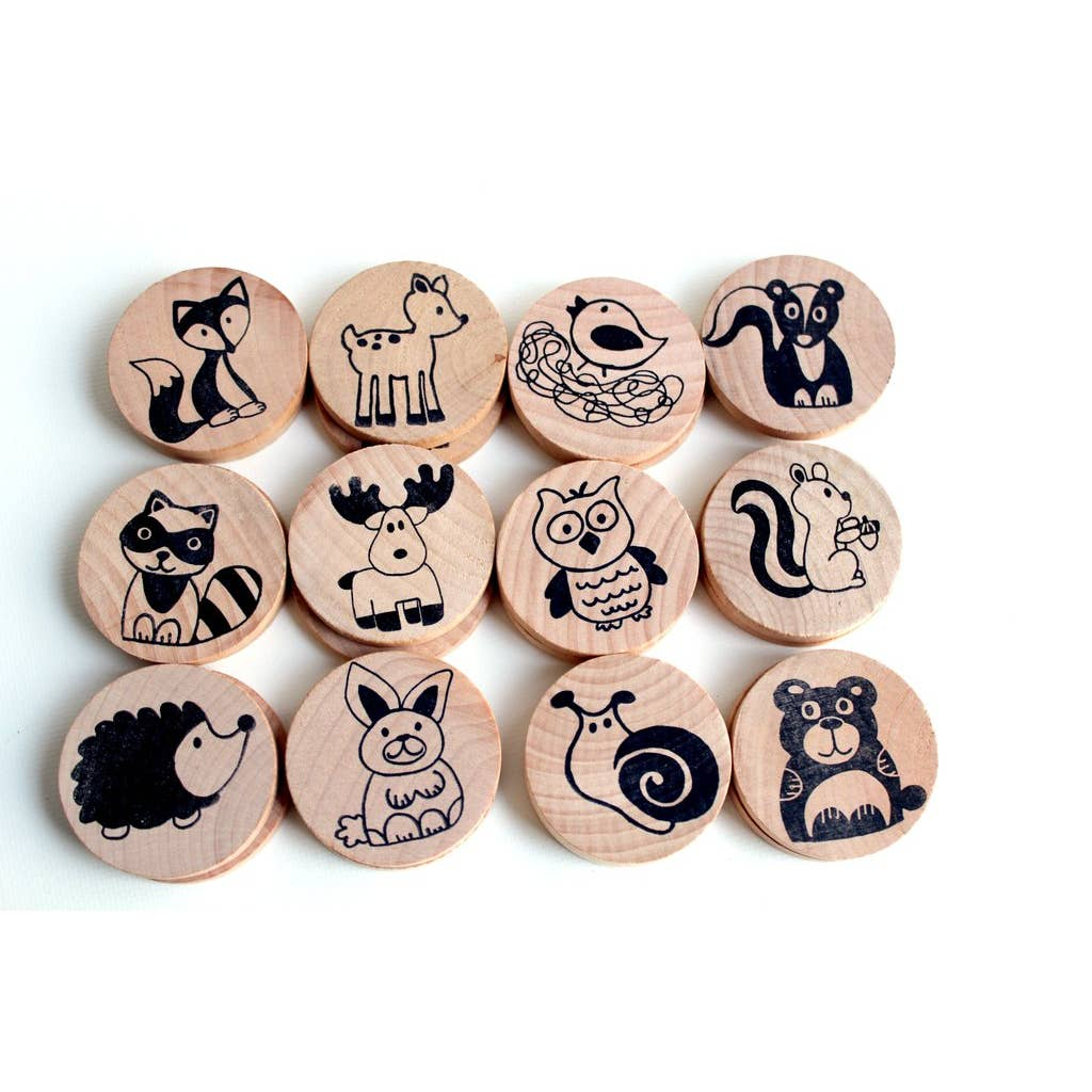 Wooden Matching Game - Forest Friends