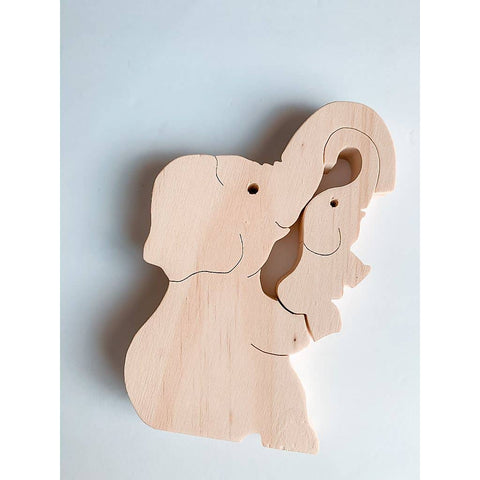 Wooden Big Mama Elephant Puzzle