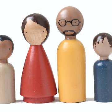 The Organic Family II Wooden Peg Dolls