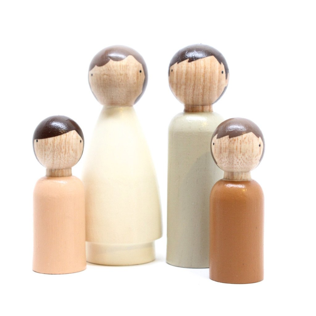 The Organic Family Wooden Peg Dolls