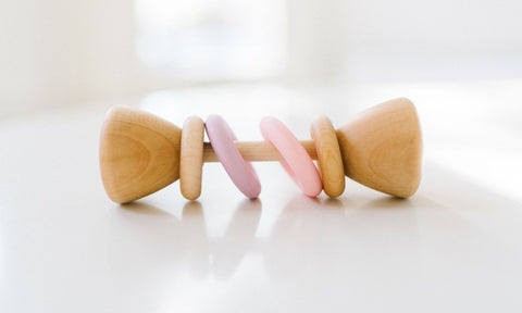Classic Wood Rattle - Pink