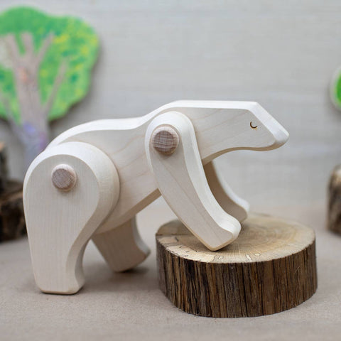 Endangered Species Collection: Wooden Polar Bear