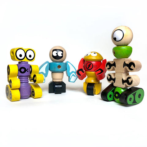 Tinker Totter Robot Stackers  and 28 Piece Playset