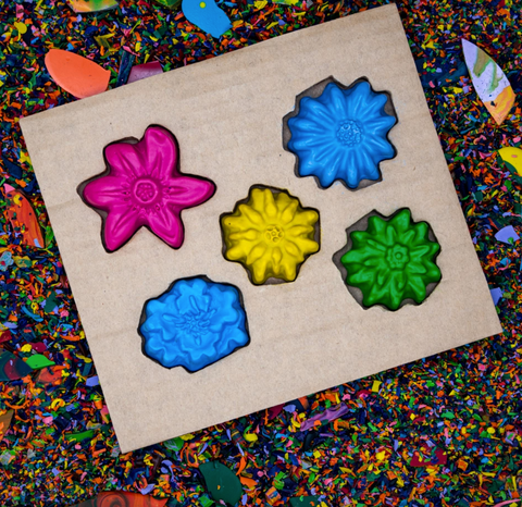 Flower Crayon Set