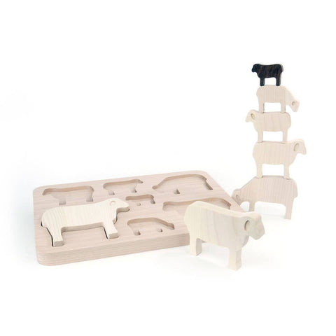 Counting Sheep Sorter, Stacker + Puzzle