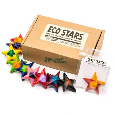 Eco Stars Crayons Tye Die - Box of 10