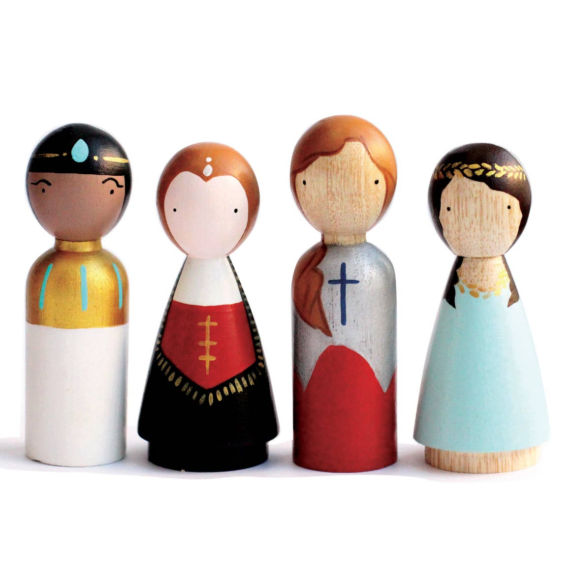 Women in Power Wooden Peg Dolls