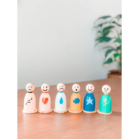 Feelings + Emotions Peg Doll Set (Bilingual)