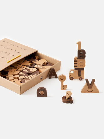 Wooden Alphabet Play Blocks