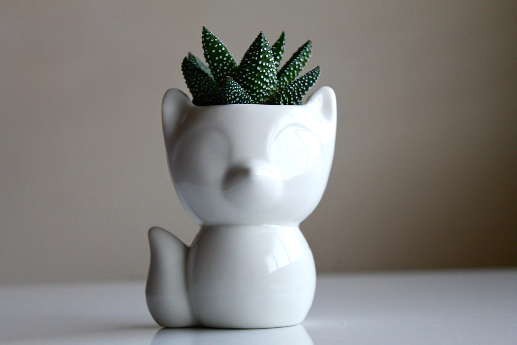 Porcelain Fox Succulent Planter