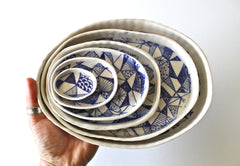 Organic Contemporary Serving dish set