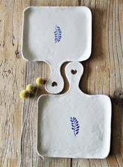 Hand Shaped Porcelain Serving cheese boards set of 3