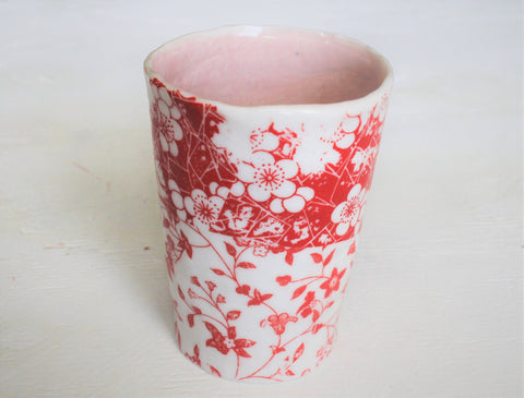Hand pinched Porcelain tall cup #2