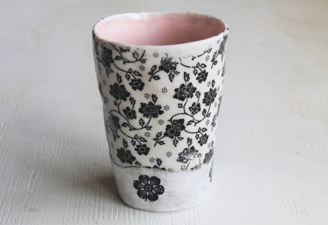Hand pinched Porcelain tall cup #3