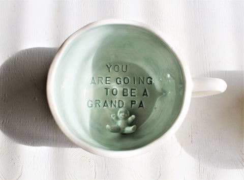 "Cappucino cup ""You are going to be a GrandPa"""