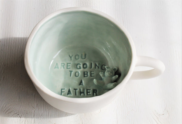 "Cappucino cup ""You are going to be a father"""