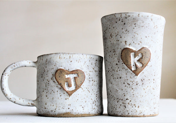 Personalized Stoneware Tall Cup