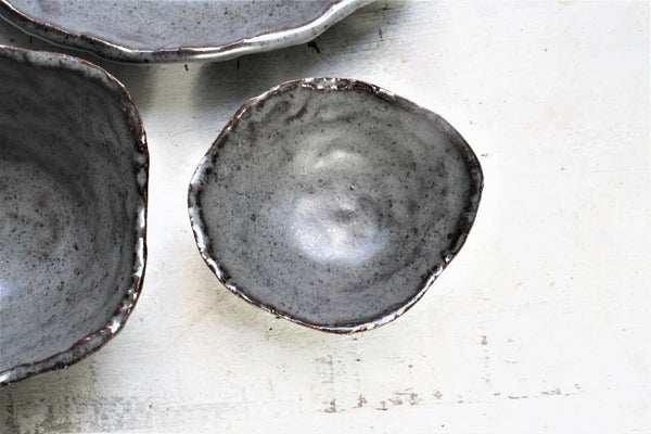 Bohem Stoneware Serving Set - Steel Brown