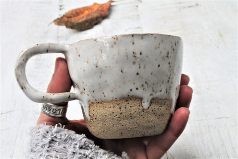 Dripping and Speckling stoneware cup - 8oz