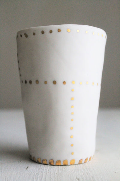 I Love You -Tall Cup - White Matte - 23k gold -  12oz