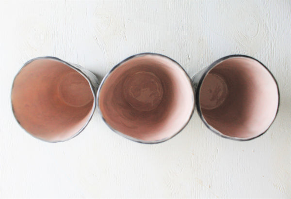 Hand pinched Porcelain tumbler