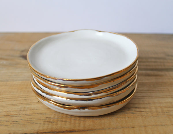 Ring Dish in White and Gold