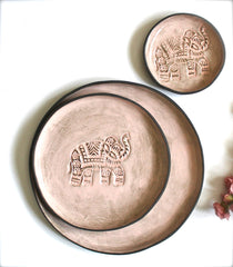 Stoneware Serving Plates in Pink
