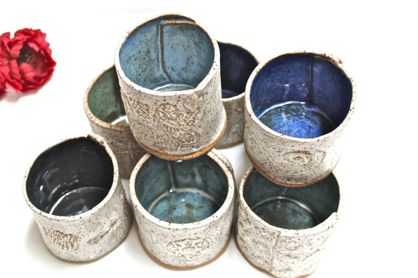 Handmade Ceramic cup-Pottery cup-handmade ceramic glass -Rustic Pottery cups- Textured Pottery Cup-Handmade Rustic Tumblers-Stoneware Cup