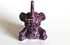 In Stock! I love you Purple Elephant Ring Holder - Engagement ring holder Purple Lucky Baby Elephant Home Decor- Purple elephant ring holder