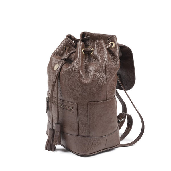 Hudson Leather Backpack - Brown