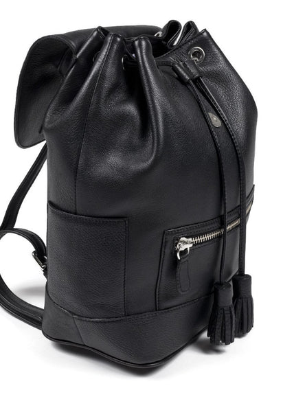 Hudson Leather Backpack - Black