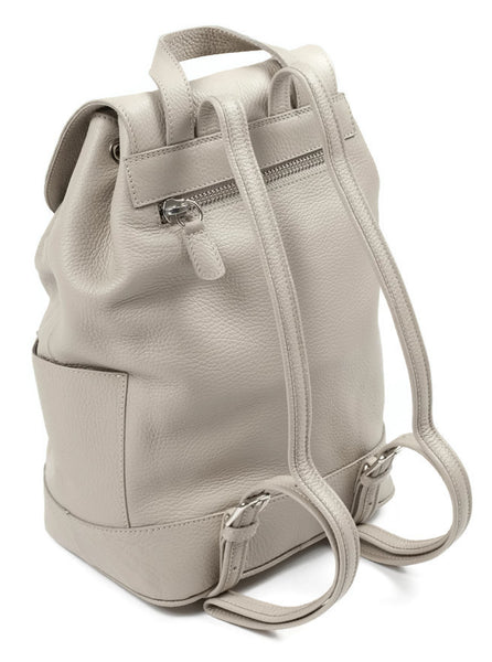 Hudson Leather Backpack - Beige