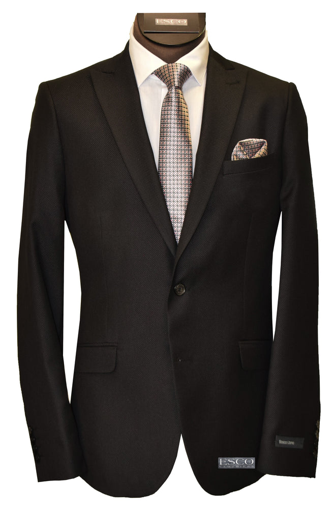 BOSCO UOMO 2 PIECE SUIT- BLACK