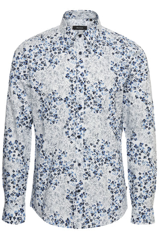 MATINIQUE ROBO FLOWER PRINT SHIRT- WHITE