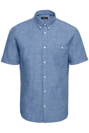 MATINIQUE SHORT SLEEVE TROSTOL SHIRT- WASHED BLUE