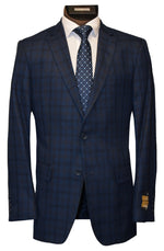 BERTOLINI 2 PIECE SUIT- BLUE CHECK