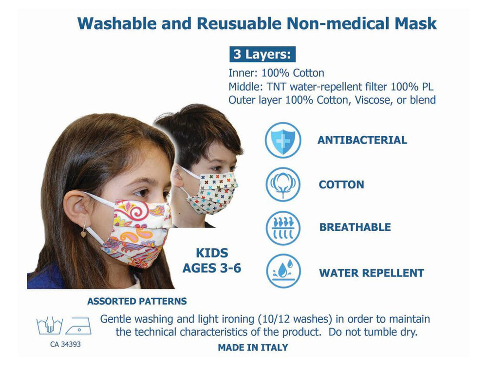 KIDS MASK w/FILTER AGES 3-6