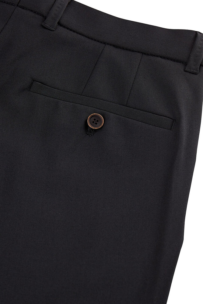SUNWILL TRAVELLER TROUSERS- BLACK (SUIT SEPARATE)