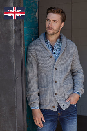 SOUL OF LONDON CARDIGAN- LIGHT GREY