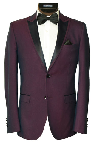 SOUL OF LONDON 2 PIECE TUXEDO- BURGUNDY