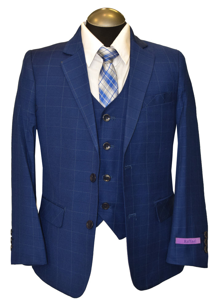 RAFFAEL 5PIECE BOY SUIT- BLUE