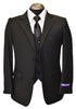 RAFFAEL 5PIECE BOY SUIT-BLACK