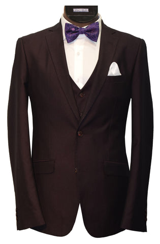 RAFFAEL UOMO 3 PIECE SUIT- BURGUNDY