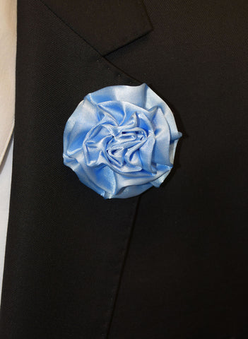 IKE BEHAR FLOWER PIN- BLUE