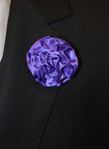 IKE BEHAR FLOWER PIN- PURPLE