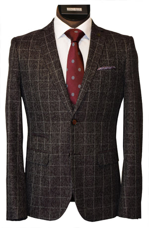 LIEF HORSENS 3 PIECE SUIT- WINE