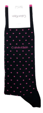 CALVIN KLEIN SOCKS- BLACK/VIOLET ROSE