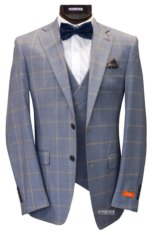 TALLIA 3 PIECE SUIT- BLUE/YELLOW